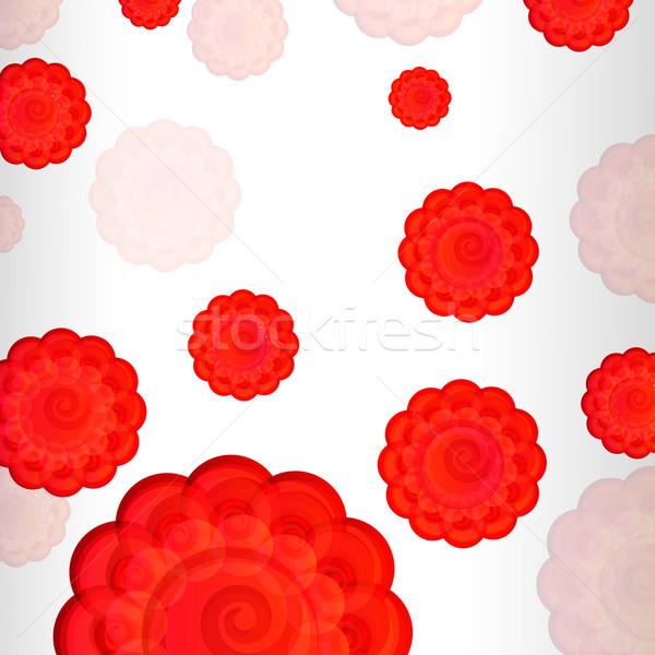Scarlet flowers background Stock photo © OlgaYakovenko