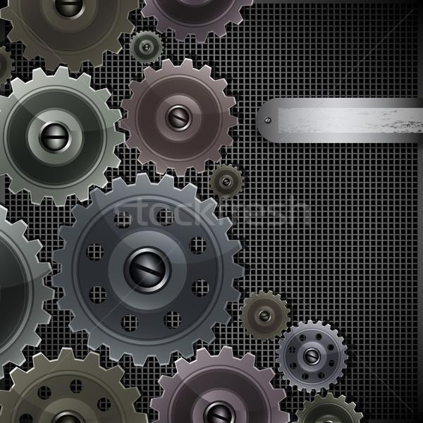 Vettore abstract techno elementi costruzione tecnologia Foto d'archivio © OlgaYakovenko