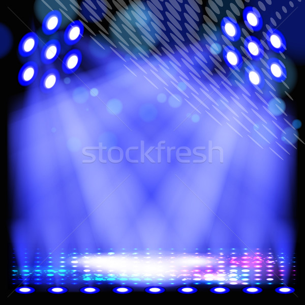 Blue spotlight background with light show effects. Stock photo © OlgaYakovenko