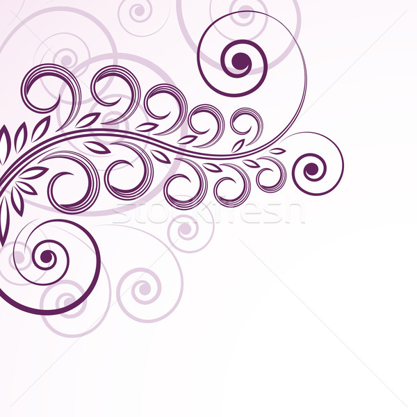 abstract floral curls. Stock photo © OlgaYakovenko