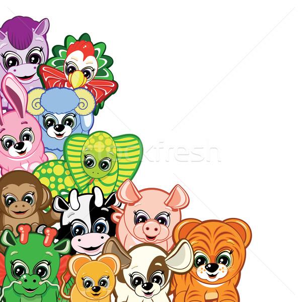 Little Animals - one of the symbols of the Chinese horoscope Stock photo © OlgaYakovenko
