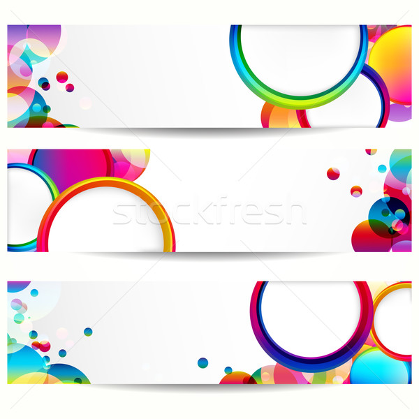 Abstract banner with forms of empty frames. Stock photo © OlgaYakovenko