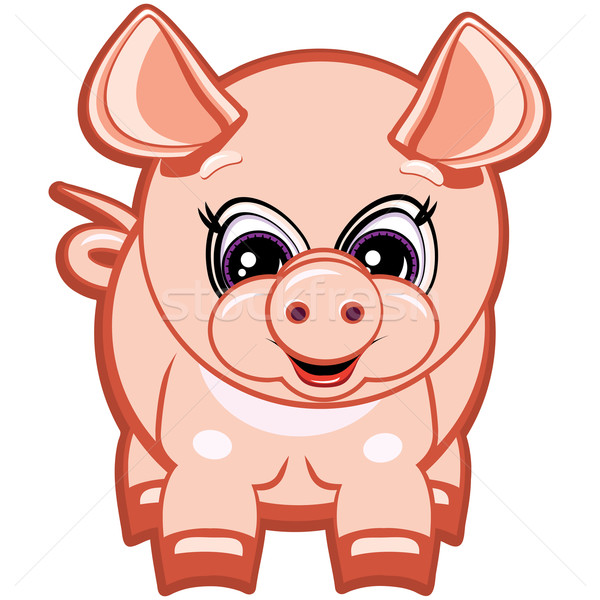 Little Pig - One of the symbols of the Chinese horoscope. Stock photo © OlgaYakovenko
