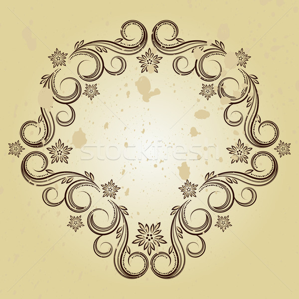 Vintage background with curled elements Stock photo © OlgaYakovenko