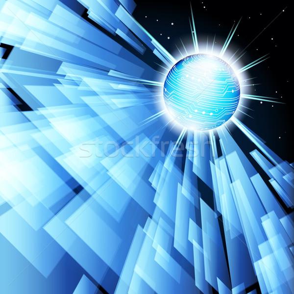 Сток-фото: аннотация · технологий · вектора · прибыль · на · акцию · 10 · интернет