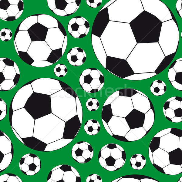 Sin costura fútbol ilustración textura diseno Foto stock © OlgaYakovenko