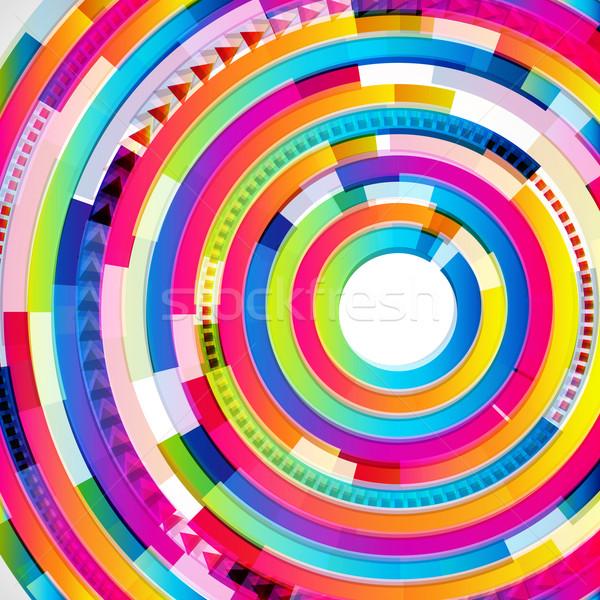 Abstract digital circles background Stock photo © OlgaYakovenko
