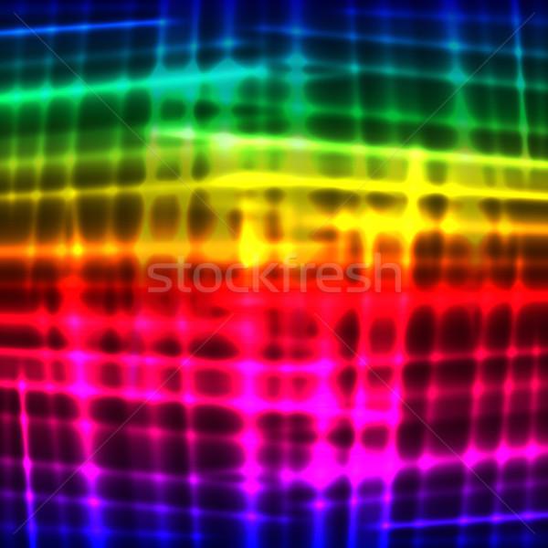 Rainbow neon vector background Stock photo © OlgaYakovenko