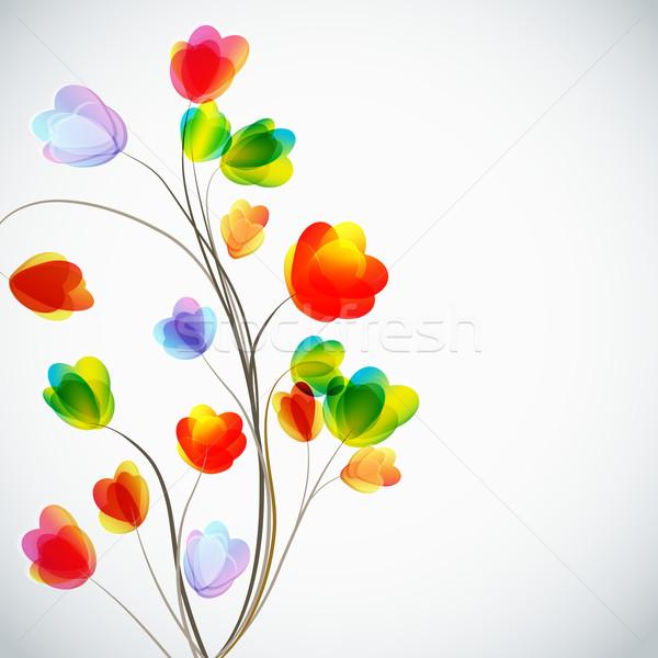 Stok fotoğraf: çiçekler · çiçek · soyut · yaprak · arka · plan · duvar · kağıdı
