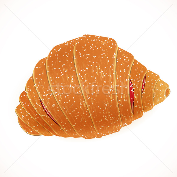 Tasty yummy croissant.  vector illustration. Stock photo © OlgaYakovenko