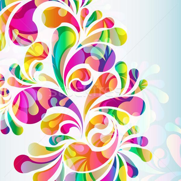 15 abstrakten farbenreich Hintergrund Kunst Sommer Stock foto © OlgaYakovenko