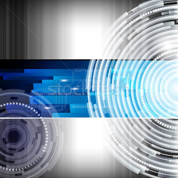 Abstrato digital techno negócio computador metal Foto stock © OlgaYakovenko
