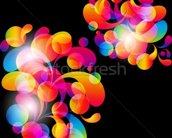 Tarjeta resumen brillante color gotas limpio Foto stock © OlgaYakovenko