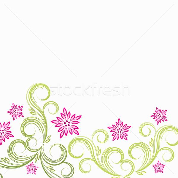 вектора розовый цветок цветочный цветок трава аннотация Сток-фото © OlgaYakovenko