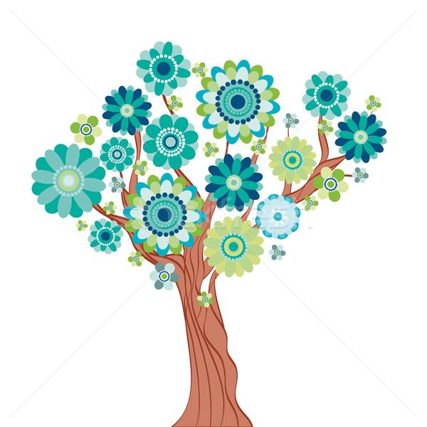 аннотация дерево цветы цветок природы лист Сток-фото © OlgaYakovenko
