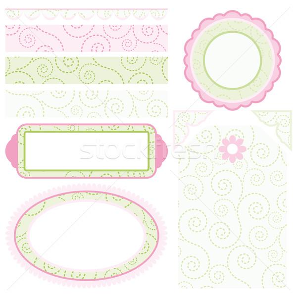 Image of Set of elements for design. Motive curls. Stock photo © OlgaYakovenko