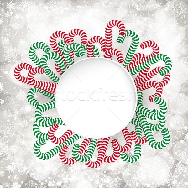 Weihnachten Hintergrund Spaß candy Tapete Urlaub Stock foto © OlgaYakovenko