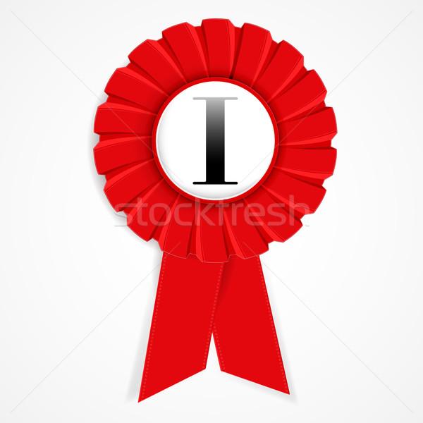 Certificat champion rouge signe affaires star Photo stock © OlgaYakovenko