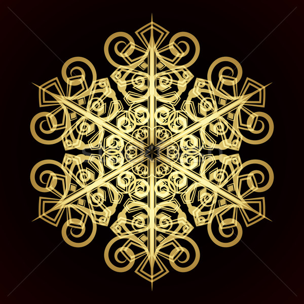 Card with christmas snowflake, vector illustration Stock photo © OlgaYakovenko