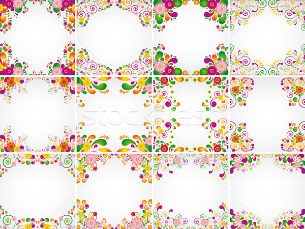 Gift cards. Floral design backgrounds. Stock photo © OlgaYakovenko