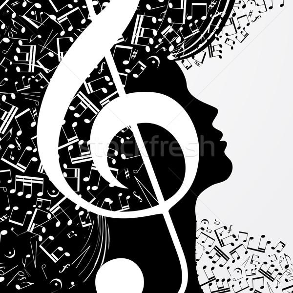 аннотация музыку вечеринка дизайна волос фон Сток-фото © OlgaYakovenko