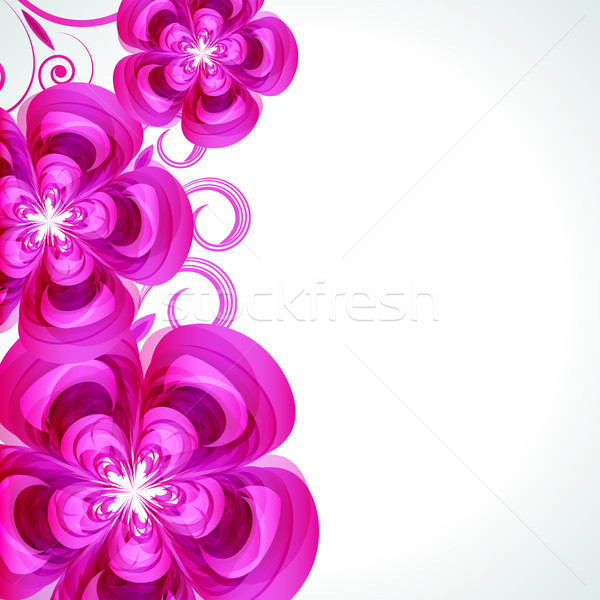 Abstract flower vector background cover template. Stock photo © OlgaYakovenko