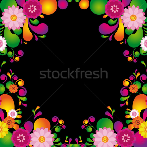 Flower frame for the poster of Hawaiian night party. Stock photo © OlgaYakovenko