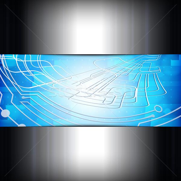 Streszczenie działalności cyfrowe komputera metal niebieski Zdjęcia stock © OlgaYakovenko