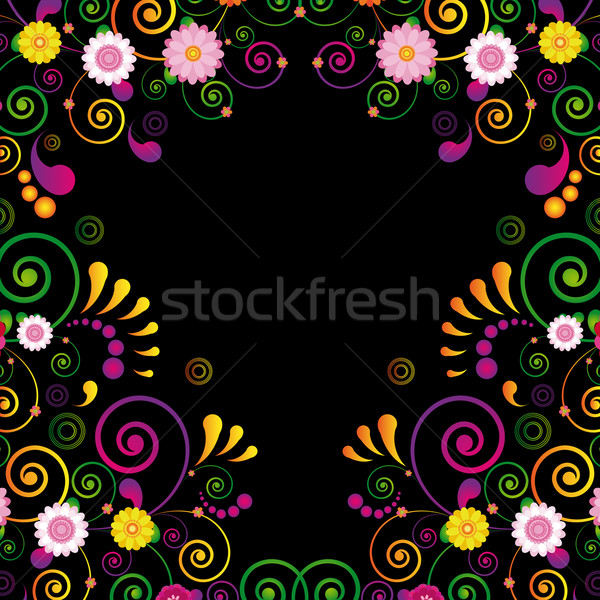 Flower frame for the poster of Hawaiian night party. Stock photo © OlgaYakovenko