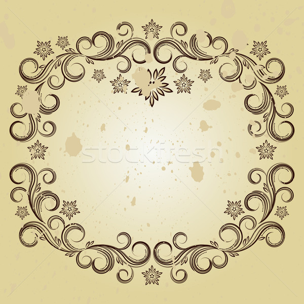 Vintage background with curled elements. Stock photo © OlgaYakovenko