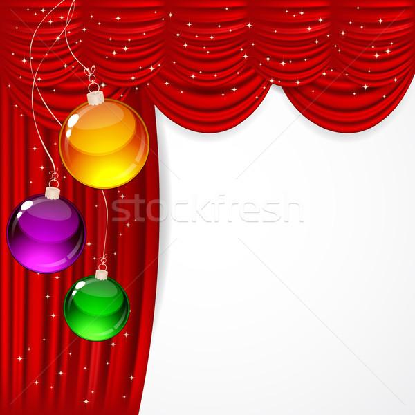 Рождества красный атласных кадр искусства Сток-фото © OlgaYakovenko
