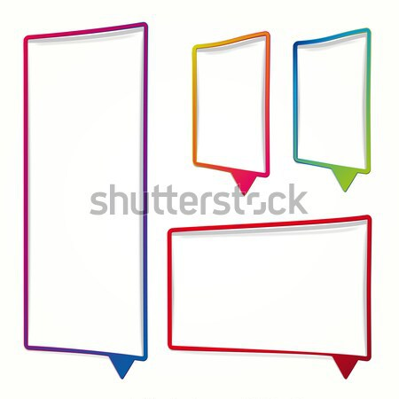 Long vertical oriented sticker in the form of an empty frame for Stock photo © OlgaYakovenko