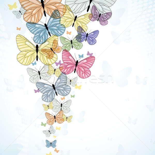 Abstarct background with colorfull butterfly. Vector.  Stock photo © OlgaYakovenko