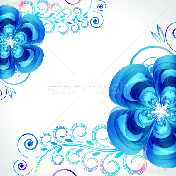 Abstract beautiful flower vector background cover template. Stock photo © OlgaYakovenko