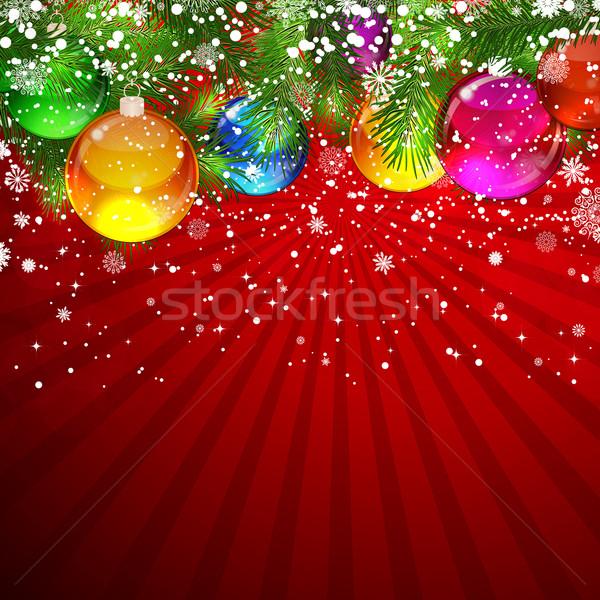 Christmas kerstboom ingericht glas kunst Stockfoto © OlgaYakovenko