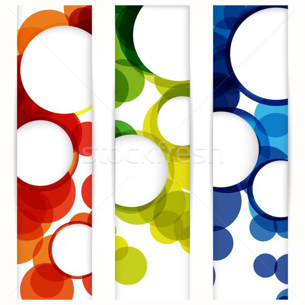 Abstract verticaal banner lege frames www Stockfoto © OlgaYakovenko