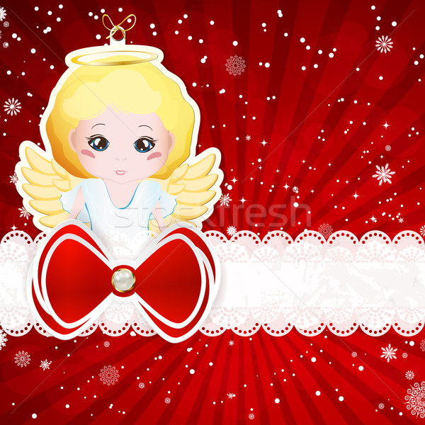Рождества Элементы вектора бумаги текстуры Сток-фото © OlgaYakovenko