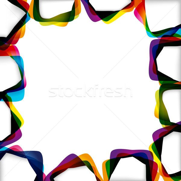 Abstract background with forms of empty frames for your design. Stock photo © OlgaYakovenko