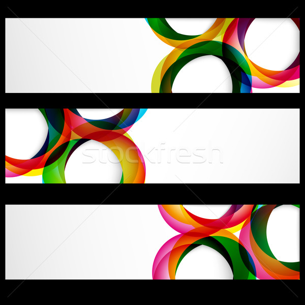 Abstrakten Banner leer Frames Web-Design Business Stock foto © OlgaYakovenko