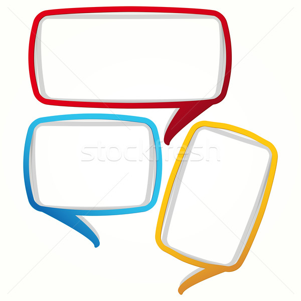 Colorful speech bubble frames. Labels in the form of an empty fr Stock photo © OlgaYakovenko
