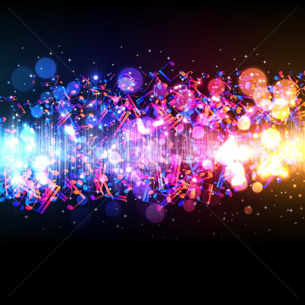 Vektor zene hangszínszabályozó hullám tánc absztrakt Stock fotó © OlgaYakovenko