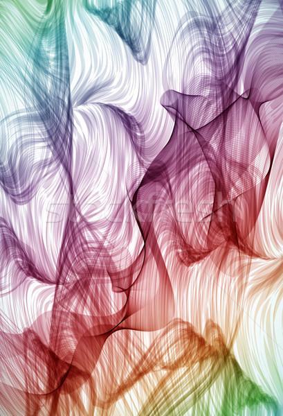 Colorful swirling hand drawn detailed background Stock photo © OlgaYakovenko