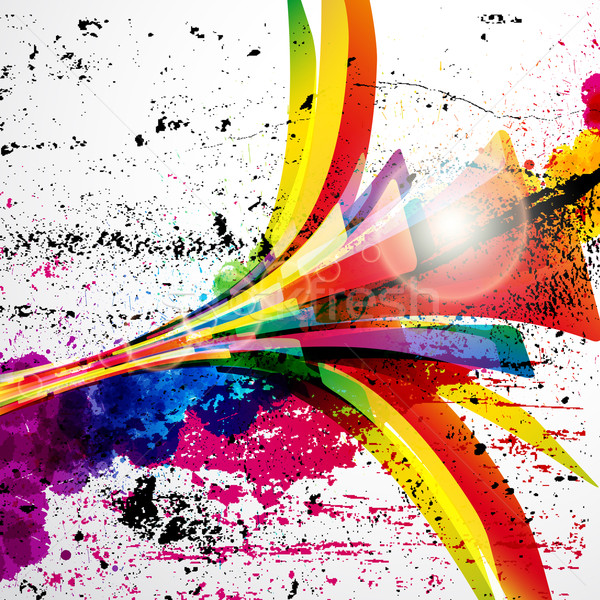 Abstract background forming by watercolor paint splashes. Stock photo © OlgaYakovenko