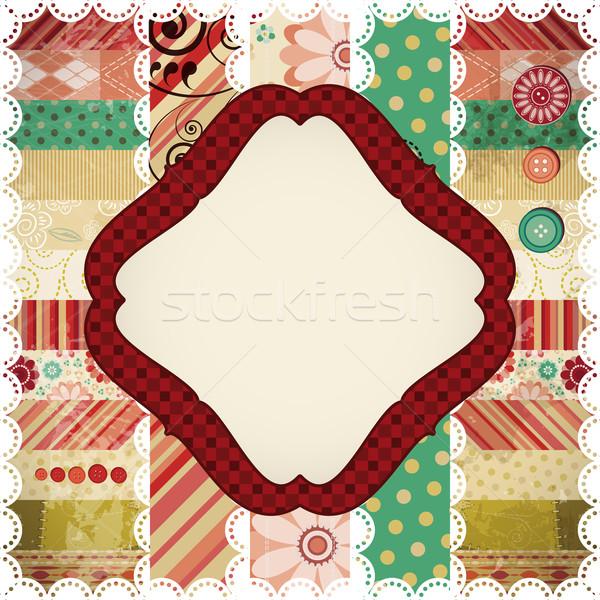 Scrap background made in the classic patchwork technique. Stock photo © OlgaYakovenko