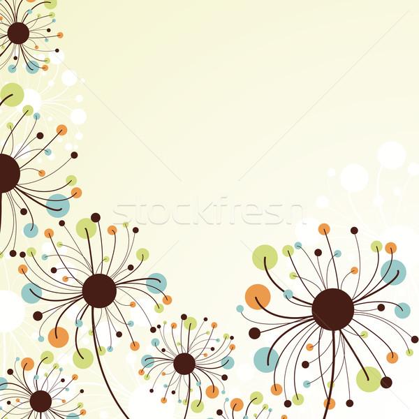 Retro abstract achtergrond licht groene Stockfoto © OlgaYakovenko