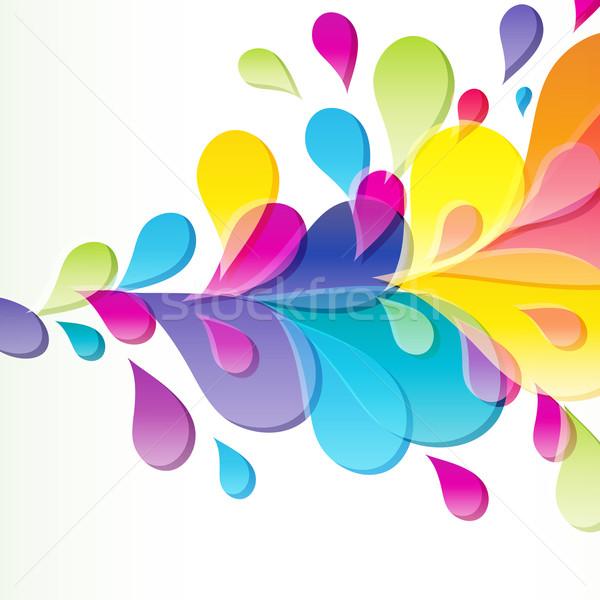 Absztrakt fényes csepp terv szépség nyomtatott Stock fotó © OlgaYakovenko