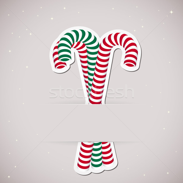Background with candy inserted into a slot on the paper card. Ve Stock photo © OlgaYakovenko