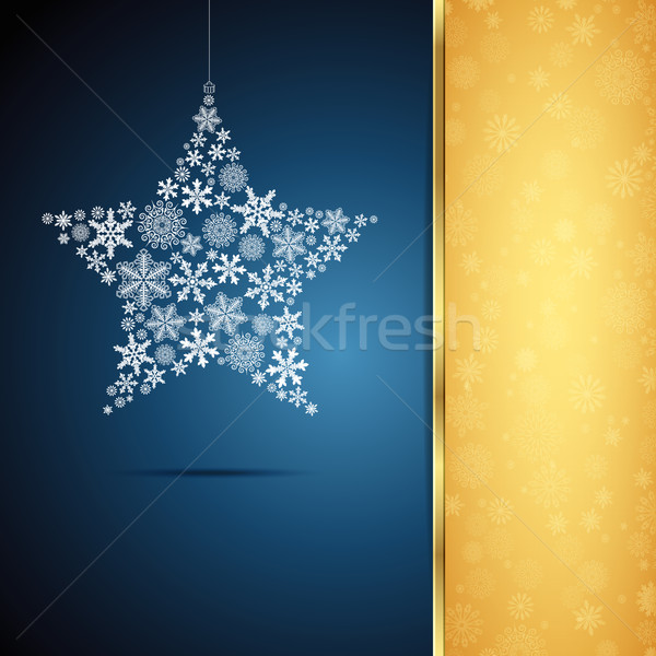 Noel star kar tanesi dizayn parti soyut Stok fotoğraf © OlgaYakovenko