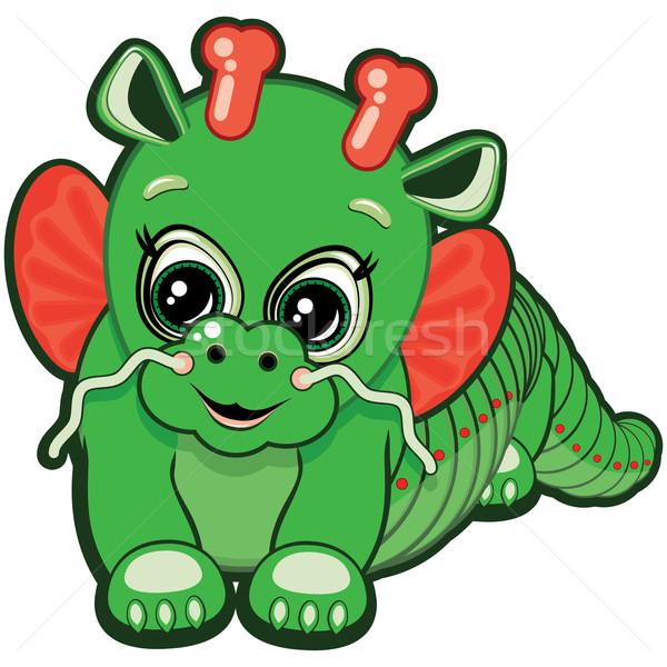 Little Dragon - one of the symbols of the Chinese horoscope Stock photo © OlgaYakovenko
