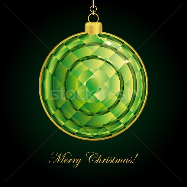 エメラルド クリスマス ボール パーティ 芸術 黒 ストックフォト © OlgaYakovenko